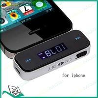 Wireless 3.5mm In-Car Handsfree Car Kit Music Radio MP3 FM Transmitter for iPad iPhone 4 4S 5 Galaxy S2 S3 HTC 100Pcs/Lot DHL