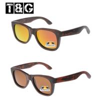 Fashion Summer Bridge Wood Sunglasses Woman Coating Mirrored Sunglasses Polarized Brand Designer Oculos De Feminino Madeira