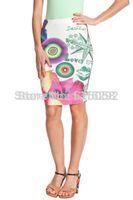 newFashion Floral Print New Desigual Women Pencil Skirts Ladies Bodycon Bandage Skirt 2014