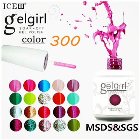 uv neon color nail gel polish brust sale 300 color gelgirl gel polish choose 6 color GEL NAILS(China (Mainland))