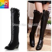 Free shipping knee boot platform boots women fashion winter footwear warm long boot shoes P10318 EUR size 34-40 WS3041