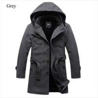 2014 New winter jacket men Outdoor Warm   Woolen Coat Winter Jacket Outerwear Slimming Man Thick Clothes