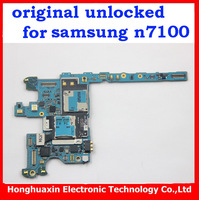 free shipping original unlocked mainboard for Samsung Galaxy note2 n7100 Original Motherboard 16G European version NOTE 2 N7100