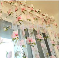 Size:(W:3M*H:2.7M) yarn rustic romantic flower curtain yarn window screening customize finished products balcony