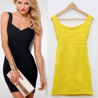 2014 women summer dress Sexy Backless Bodycon Bandage Dress Slim Multi-color Sheath Vintage Prom Dresses Plus Size M-XXL LYQ128