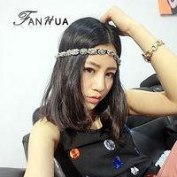Black Elastic Ribbon With Rhinestone Beads Romantic Designer Headbands Hair Jewelry Hairwear For Women