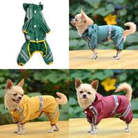 New Pet Dog Cat Raincoat Clothes Puppy Glisten Bar Hoody Waterproof Rain Jackets Free Shipping