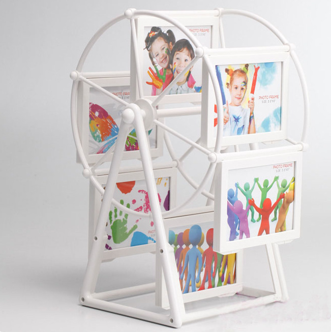 Good quality white pink sky wheel baby 2-inch photo frame picture frames ferris wheel birthday Christmas gift free shipping Y127(China (Mainland))