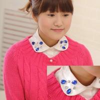 Fashion Fake False Shirt Collar For Women Peter Pan Detachable Collars for women decoration,Wholesale,Free Shipping MMD