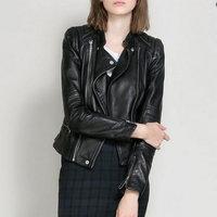 Women Motorcycle Leather Jackets Female Faux Winter Autumn Brown Coat Outwear
