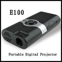 10pcs Tiny home projectors CSVC E100 - micro cast DLP portable mini projector can fit for Iphone projection
