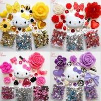 DIY Deco Hello Kitty Phone Deco Cabochons for DIY Phone Cases Jewellery Purses Shoes Free FedEx UPS