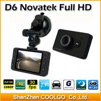 "Novatek D6 Full HD 1080P 2.7"" LCD Car DVR Camcorder Video Recorder Dashboard Vehicle Camera"