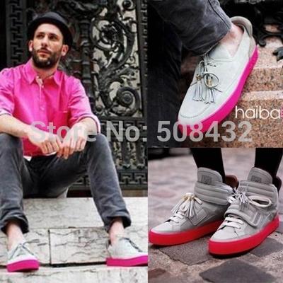 2014 automne chaussures pour hommes en cuir véritable designer espadrilles 38-46 livraison gratuite