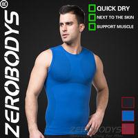 Fast Shipping ZEROBODYS Outdoor Mens Body Shaper Quick Dry Vest 390 BU Free Shipping Men's Sports Fitness Sport Tops Men Fitness