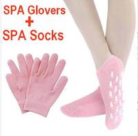 SPA Gel Whiten Skin Exfoliating Moisturizing crack peeling Treatment Silky foot feet health care Silicone Gloves socks hand mask