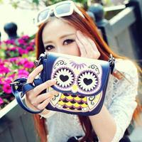 2014 Spring and summer cartoon owl mini-package print mini messenger bag small change bag small