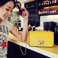 2014 Women's handbag spring and summer casual chain bag messenger bag candy color mini handbag