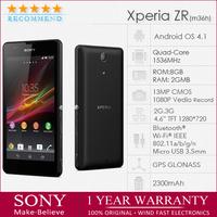 "Refurbished M36h Original sony xperia zr m36h c5503 unlocked Quad-core  4.6"" 2GB Android 4.1 8GB 3G 13MP GPS WIFI free shipping"