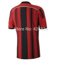 High quality 5pcs AC Milan 14 Jersey KAKA Balotelli Montolivo AC Milan 2015 Home/Away Jersey For ac milan Fans Free shipping(AC)