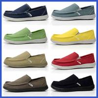2014 New men's canvas Flats shoes male Casual Driving shoes breathable Sports Shoes size:38-45 sapatilhas espadrilles black blue