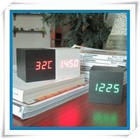 Free Shipping Alarm Clocks with Thermometer,Table Clocks, Digital Clock,Wood Wooden Clocks LED display CM-HD0003