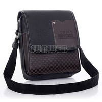 2014 New Arrival Fasion Mens Leather Crossbody Shoulder Messenger Bag Briefcase 2 Colors Versions FreeShipping #7 SV004504