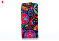 Colorful Flower Wallet Leather Case For Samsung Galaxy S Duos S7562 S4 i9500 S4 mini i9190 Cover Phone Bag With Card Slot