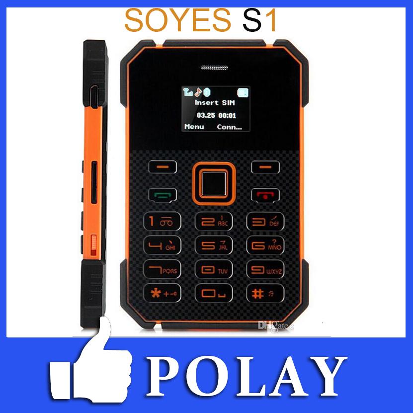 Envío gratis 2014 5.8mm nuevo ultra delgada soyes s1 mini tarjeta a prueba de agua teléfono móvil de baja radiación de música fm bluetooth del teléfono