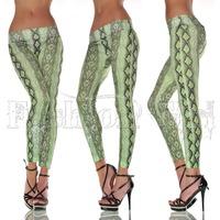 2014 new women sexy snakeskin print tattoo jean look legging sport leggins punk fitness american apparel jeans woman pants 9083