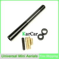 Universal Black Carbon Fiber Short Car Aerial Mini Antenna, Fit Mini Cooper S JCW R55 R56 R57 R60 Free Shipping