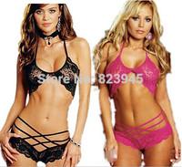 2014 Newest sxey lingerie lace sexy stripper clothes 3 point temptation langerie L-1001