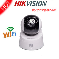 Free shipping Hikvision DS-2CD3Q10FD-IW IP Camera 720P 1.0MP WIFI Alarm Wireless Built-in microphone Dome Security CCTV Camera