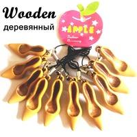 10pcs/lot New arrival fashion wooden mobile phone straps Kawaii key ring lanyard High-heeled shoes mp3 pendants Creative gift
