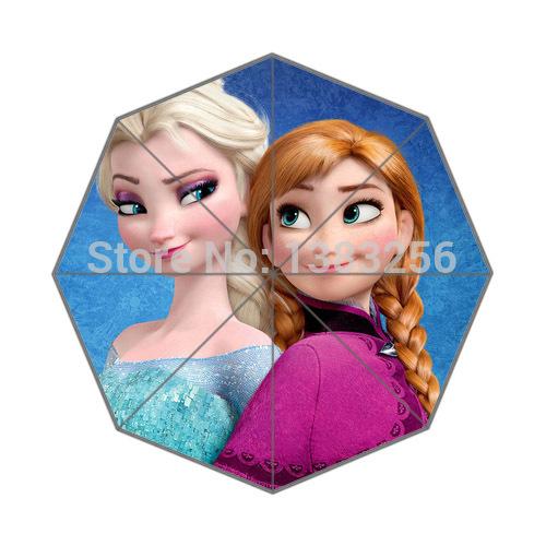 2014 New Rain Sunny Umbrella Elsa And Anna In Frozen Cartoon 43.5 inch Auto Foldable Umbrella gift for Kid Friend.jpg(China (Mainland))