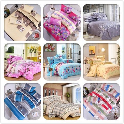 Tessili per la casa, stampa reattiva letto 4 pezzi set di lusso includono copri piumino da letto lenzuolo federa, re regina full size, spedizione gratuita