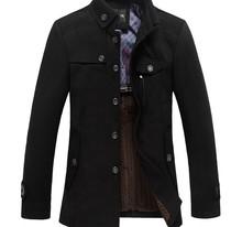 Men's Horizontal zipper Slim washing  Jackets Coat Outerwear(China (Mainland))