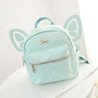 2014  hot sale softback zipper woman fashion bag rivet women mochila infantil bags backpack butterfly embroidery backpacks
