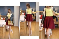Charming Women Trendy Stretchy Waist Casual Puffy Mini Skirt