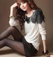 2014 Limited Promotion Solid Autumn Fall Lace Sleeves Women Blouses Chiffon Female Shirts Feminino Blusas Femininas Roupas Renda