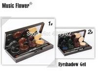 Brand Mineral Pigment Eyeliner Eyeshadow Cream Palette Smoky Eyes Makeup Set With Brush Wholesale 2pcs/lot