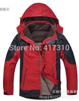 2015 camel Men's Outdoor Jacket Waterproof Breathable Winter 2 in 1 Jacket Windbreake Man Wolfskies Mountain Clothes down jacket