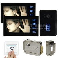 7 Inch Video Door Phone Intercom Doorbell Home Security IR Camera Touch Monitor Electric Lock 125KHz RFID Reader SY806MJID12