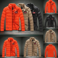 British Flag Men Winter Snow Down Jackets Plus Size S-5XL 2014 New Arrival Fashion Brand Candy Color Slim Fit Coats F0212