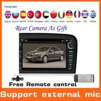 2 Din Car DVD Automotivo Player for Volvo S80 W/GPS+BT+AM/FM Radio+Tape Recorder+Russian Menu+Audio+Free Camera,Steering Wheel