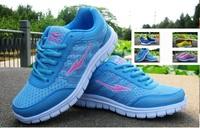 Women's sport Brand new 2014 athletic running shoes for women run tennis sapatos femininos chaussure femme blue blue yellow cool