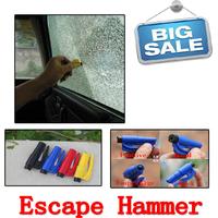 JAUNT Free shipping 3 in 1Mini car safety hammer keychain rescue tool keychain emergency hammer broken Windows escape tool