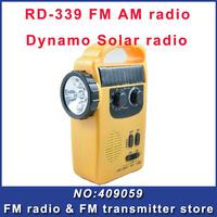 Fmuser RD-339 FM AM radio Dynamo Solar Flashlight Radio for emergency rechargeable for phone with flashlight Free Shipping