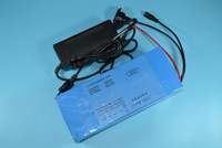 TNT/EMS shipping 1pcs/lot     New! Rechargeable 36V 10Ah Electric Bicycle Battery  with BMS Board, Charger