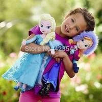 50cm  Frozen Plush Dolls Toys  Princess Elsa Anna 2014 New Kids Dolls for Kids Girls Free Shipping